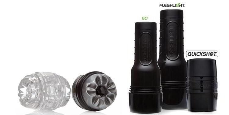Fleshlight sizes compared: Regular Fleshlight vs. Go vs. Quickshot