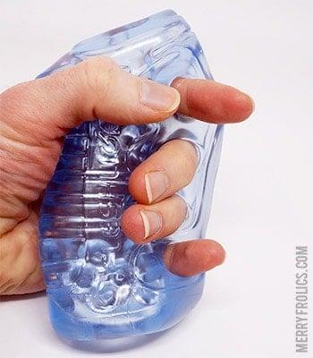 Fleshlight Fleshskins Grip Blue Ice - Small and cheap Fleshlight