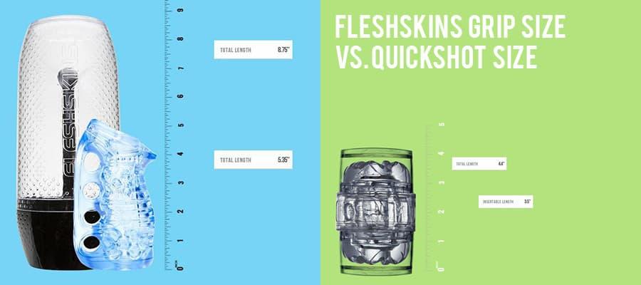 Fleshskins Grip size vs. Quickshot Size
